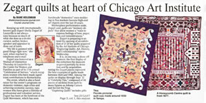 Zegart Quilts at the Heart of Chicago Art Institute Show