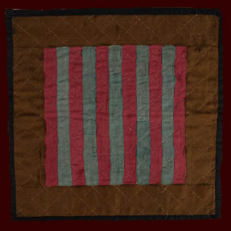 Pennsylvania Amish Bars Doll Quilt - RARE