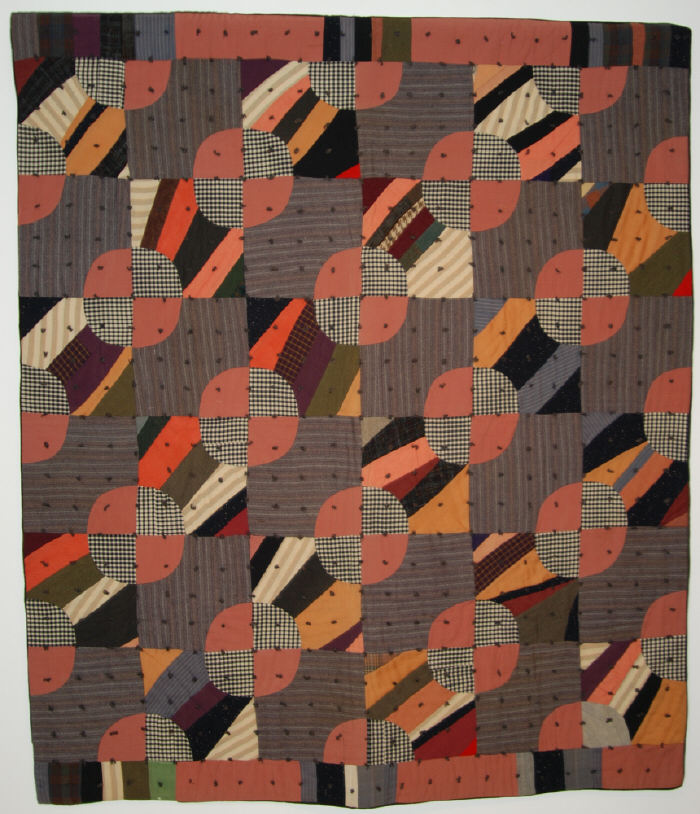 Shelly Zegart - For Sale from Great Antique Quilts Collection - Wool Bowties Variation25