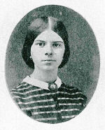 Susan Elizabeth Daggett at approximately 18 years of age. Photo courtesy of the Ontario County Historical Society, Canandaigua.